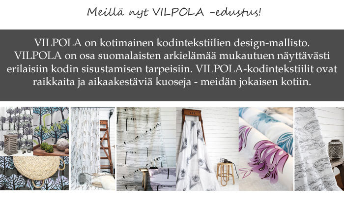 Valikoimassa kankaat, verhokankaat, valmisverhot, sisustustyynyt, päiväpeitot, muut kodin tekstiilit